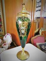 Vintage Venetian Glass Lidded Urn $595.00