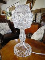 Art Deco Cut Crystal Table Lamp SOLD