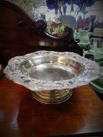 Vintage Decorative Silver Plated Cake Stand or Fruit Bowl