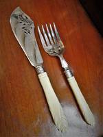 Victorian Fish Servers  Sheffield 1879 $125.00