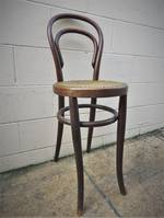 Antique Bentwood Counter Chair Cane Seat $225.00