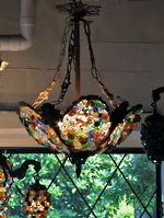 Hanging Grape Light Chandelier $2500.00