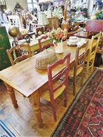 Antique Beech Farmhouse Kitchen Table $2250.00