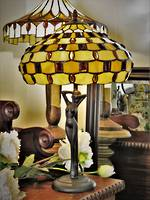 Art Deco Style Tiffany Lady Lamp