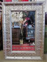 Silver Pressed Metal Mirror Antique Style SOLD but can be ordered.