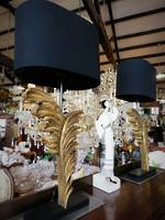 Gilt Leaves Reproduction Antique Table Lamp $345 each
