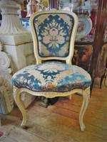 French Chairs with Velvet Brocade Upholstery, 4 or 5 available