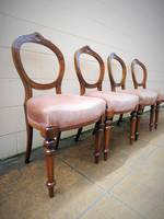 Set of 4 Antique English Walnut Chairs $1400 SOLD