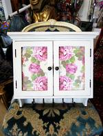 Bespoke Hand Crafted Decoupage Bathroom or Kitchen Cabinet $325.00