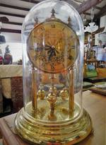 German Clock in Glass Dome $155