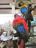 Exotic Bird Table Lamp - A Pair of Parrots!