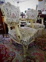 French Antique Pair of Chairs $2100 - Settee also available