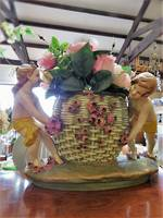 Large Antique Amphora Basket Jardiniere $595