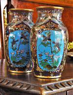 A Pair of  Very Fine Opposing  Japanese Cloisonne Vases SOLD