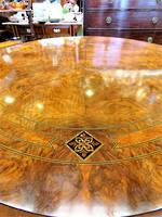 Exceptional Antique Walnut Marquetry Loo Table SOLD