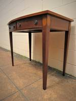 Solid Mahogany Hall Table with Leather Top Sold