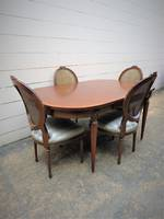 French Dining Suite - 4 Chairs & Extendable Table $3950.00