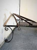 Antique French Wrought Iron Portico Sold