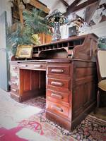 Antique Oak Roll Top Desk $2950