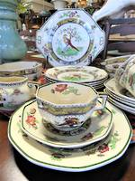 Antique Royal Doulton Tea Set Hand Painted Birds $245.00