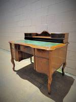 Antique French Walnut Desk with Original Leather top $2250
