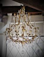Vintage French Gilt Crystal Chandelier 8 arms $2999.00 SOLD