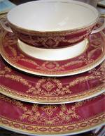 Antique Dinner Set - Classical Fine Porcelain with decorative Guilding - 60 pc  $650