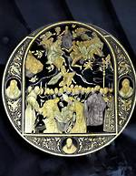 Damasquino Gold inlaid Plate - Miniature of El Orgaz