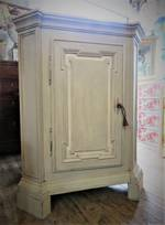 French Provincial Antique Painted Oak Corner Cabinet Cupboard $1250