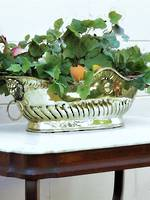 Antique Brass Centerpiece Planter -or Fruit Basket -  Neoclassical Design SOLD