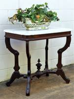 French Neoclassical Empire Style Marble Top Hall Table