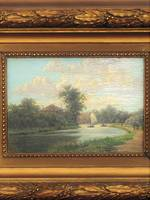 Original Antique Oil Painting - English Landscape