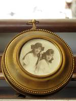 Edwardian Gilt Photo Frame - Freestanding $125