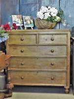 Early Provincial Pine Chest of Drawers $1950.00