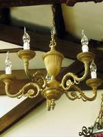Empire Style Vintage Gilded 6 Arm Chandelier $650