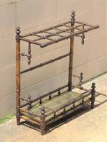 Georgian Carved Faux Bamboo Umbrella Stand & Walking Stick Holder SOLD