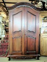 French Mahogany Armoire Wardrobe $2950.00