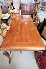 French Antique Fruitwood Extension Dining Table SOLD