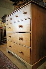 Antique English Pine Chest of Drawers $1995