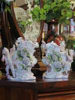 19th C European Fine Porcelain Corresponding Pair Figurative Vases SOLD