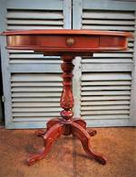 Vintage Reproduction Burr Walnut Side Table $950.00