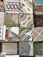 Freshly Uncovered Layer of  Antique Tiles - For Medely Selection