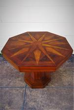 Art Deco New Zealand Timbers Pedestal Side Table $950