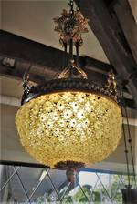 Original French Half Basket Ornately Decorated Chandelier - SOLD