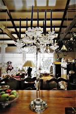 Huge Cut Crystal Table Chandelier Candelabras  - Pr Available