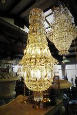 Original Cut Crystal Antique Basket Chandelier SOLD