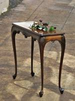 Petit Tall Narrow Mahogany Side Table or Hall Table $650.00