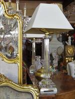 Vintage Brass & Crystal Table Lamps -  Classic Hollywood Regency $750 pr