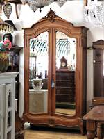 French Antique Armoire - Ornate Full Length Mirrored  Wardrobe SOLD
