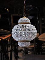Moroccan Style High Purity Cut Crystal Basket Chandelier $1195.00